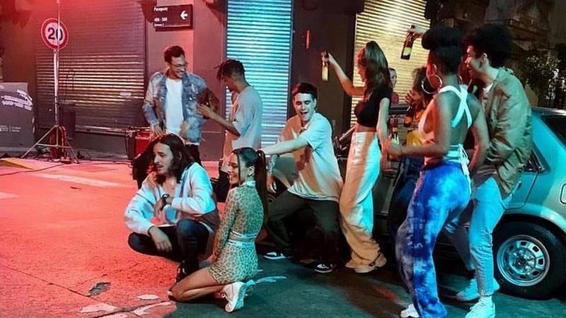 Backstages du tournage du clip de «Tú No Me Conoces»